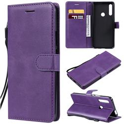 Retro Greek Classic Smooth PU Leather Wallet Phone Case for Huawei P Smart Z (2019) - Purple