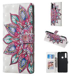 Mandara Flower 3D Painted Leather Phone Wallet Case for Huawei P Smart Z (2019)