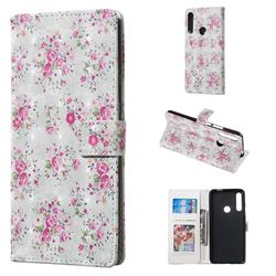 Roses Flower 3D Painted Leather Phone Wallet Case for Huawei P Smart Z (2019)