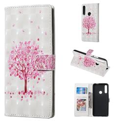 Sakura Flower Tree 3D Painted Leather Phone Wallet Case for Huawei P Smart Z (2019)