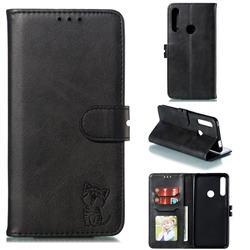 Embossing Happy Cat Leather Wallet Case for Huawei P Smart Z (2019) - Black