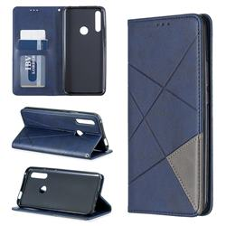 Prismatic Slim Magnetic Sucking Stitching Wallet Flip Cover for Huawei P Smart Z (2019) - Blue