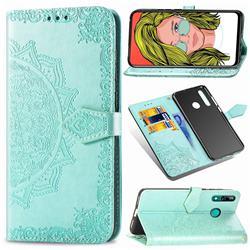 Embossing Imprint Mandala Flower Leather Wallet Case for Huawei P Smart Z (2019) - Green