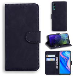 Retro Classic Skin Feel Leather Wallet Phone Case for Huawei P Smart Z (2019) - Black