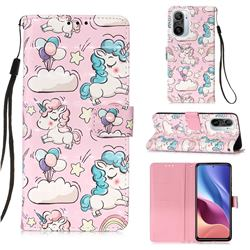 Angel Pony 3D Painted Leather Wallet Case for Xiaomi Redmi K40 / K40 Pro
