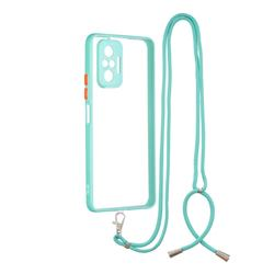 Necklace Cross-body Lanyard Strap Cord Phone Case Cover for Xiaomi Redmi Note 10 Pro / Note 10 Pro Max - Blue