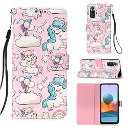 Angel Pony 3D Painted Leather Wallet Case for Xiaomi Redmi Note 10 Pro / Note 10 Pro Max