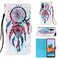 ColorDrops Wind Chimes 3D Painted Leather Wallet Case for Xiaomi Redmi Note 10 Pro / Note 10 Pro Max