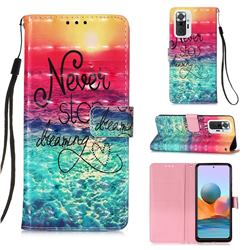 Colorful Dream Catcher 3D Painted Leather Wallet Case for Xiaomi Redmi Note 10 Pro / Note 10 Pro Max