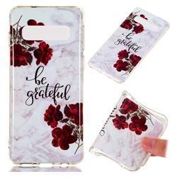 Rose Soft TPU Marble Pattern Phone Case for Samsung Galaxy S10 (6.1 inch)