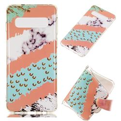 Diagonal Grass Soft TPU Marble Pattern Phone Case for Samsung Galaxy S10 (6.1 inch)