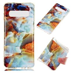 Fire Cloud Soft TPU Marble Pattern Phone Case for Samsung Galaxy S10 (6.1 inch)