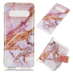 Classic Powder Soft TPU Marble Pattern Phone Case for Samsung Galaxy S10 (6.1 inch)