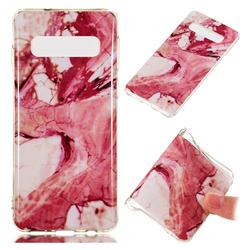 Pork Belly Soft TPU Marble Pattern Phone Case for Samsung Galaxy S10 (6.1 inch)