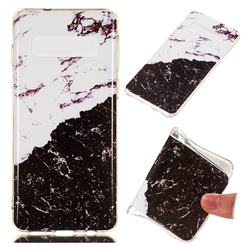 Black and White Soft TPU Marble Pattern Phone Case for Samsung Galaxy S10 (6.1 inch)