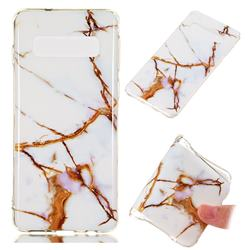Platinum Soft TPU Marble Pattern Phone Case for Samsung Galaxy S10 (6.1 inch)