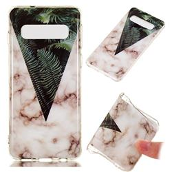 Leaf Soft TPU Marble Pattern Phone Case for Samsung Galaxy S10 (6.1 inch)