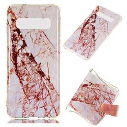 White Crushed Soft TPU Marble Pattern Phone Case for Samsung Galaxy S10 (6.1 inch)