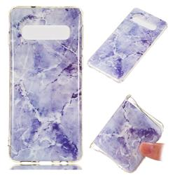 Light Gray Soft TPU Marble Pattern Phone Case for Samsung Galaxy S10 (6.1 inch)