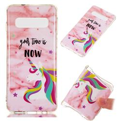 Unicorn Soft TPU Marble Pattern Phone Case for Samsung Galaxy S10 (6.1 inch)