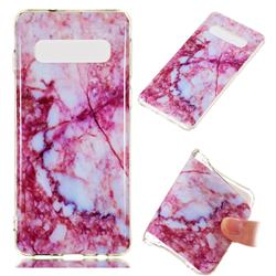 Bloodstone Soft TPU Marble Pattern Phone Case for Samsung Galaxy S10 (6.1 inch)
