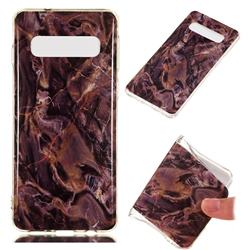 Brown Soft TPU Marble Pattern Phone Case for Samsung Galaxy S10 (6.1 inch)