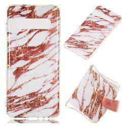 Rose Gold Grain Soft TPU Marble Pattern Phone Case for Samsung Galaxy S10 (6.1 inch)