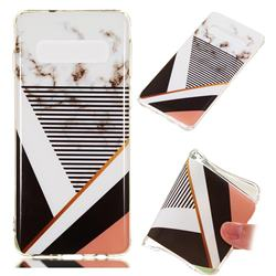 Pinstripe Soft TPU Marble Pattern Phone Case for Samsung Galaxy S10 (6.1 inch)