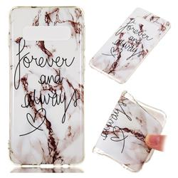 Forever Soft TPU Marble Pattern Phone Case for Samsung Galaxy S10 (6.1 inch)