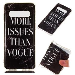 Stylish Black Soft TPU Marble Pattern Phone Case for Samsung Galaxy S10 (6.1 inch)