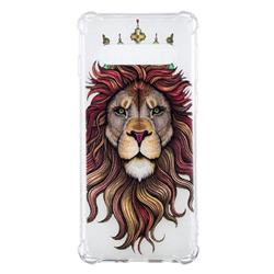 Lion King Anti-fall Clear Varnish Soft TPU Back Cover for Samsung Galaxy S10 (6.1 inch)