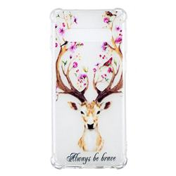 Always be Brave Anti-fall Clear Varnish Soft TPU Back Cover for Samsung Galaxy S10 (6.1 inch)