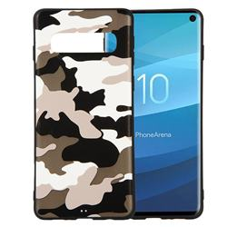 Camouflage Soft TPU Back Cover for Samsung Galaxy S10 (6.1 inch) - Black White