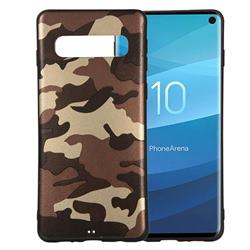 Camouflage Soft TPU Back Cover for Samsung Galaxy S10 (6.1 inch) - Gold Coffee