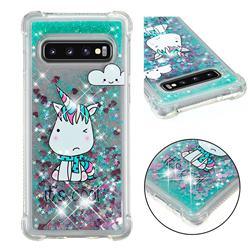 Tiny Unicorn Dynamic Liquid Glitter Sand Quicksand Star TPU Case for Samsung Galaxy S10 (6.1 inch)