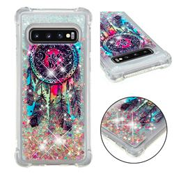 Seal Wind Chimes Dynamic Liquid Glitter Sand Quicksand Star TPU Case for Samsung Galaxy S10 (6.1 inch)