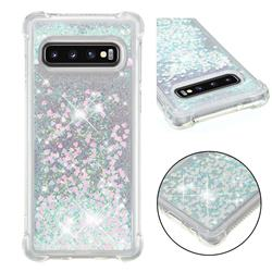 Dynamic Liquid Glitter Sand Quicksand Star TPU Case for Samsung Galaxy S10 (6.1 inch) - Pink
