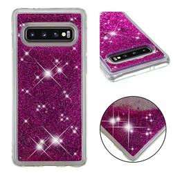 Dynamic Liquid Glitter Quicksand Sequins TPU Phone Case for Samsung Galaxy S10 (6.1 inch) - Purple