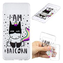 Batman Clear Varnish Soft Phone Back Cover for Samsung Galaxy S10 (6.1 inch)