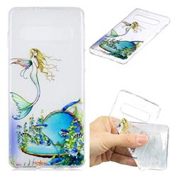 Mermaid Clear Varnish Soft Phone Back Cover for Samsung Galaxy S10 (6.1 inch)