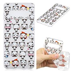 Mini Panda Clear Varnish Soft Phone Back Cover for Samsung Galaxy S10 (6.1 inch)