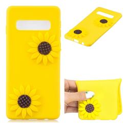 Yellow Sunflower Soft 3D Silicone Case for Samsung Galaxy S10 (6.1 inch)
