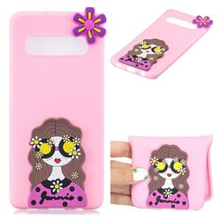Violet Girl Soft 3D Silicone Case for Samsung Galaxy S10 (6.1 inch)