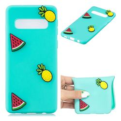 Watermelon Pineapple Soft 3D Silicone Case for Samsung Galaxy S10 (6.1 inch)