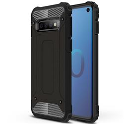 King Kong Armor Premium Shockproof Dual Layer Rugged Hard Cover for Samsung Galaxy S10 (6.1 inch) - Black Gold