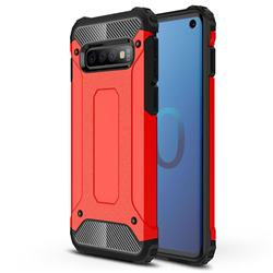 King Kong Armor Premium Shockproof Dual Layer Rugged Hard Cover for Samsung Galaxy S10 (6.1 inch) - Big Red
