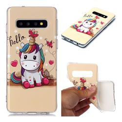 Hello Unicorn Soft TPU Cell Phone Back Cover for Samsung Galaxy S10 (6.1 inch)