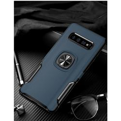 Knight Armor Anti Drop PC + Silicone Invisible Ring Holder Phone Cover for Samsung Galaxy S10 (6.1 inch) - Sapphire