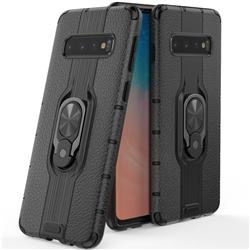 Alita Battle Angel Armor Metal Ring Grip Shockproof Dual Layer Rugged Hard Cover for Samsung Galaxy S10 (6.1 inch) - Black