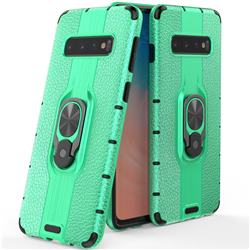 Alita Battle Angel Armor Metal Ring Grip Shockproof Dual Layer Rugged Hard Cover for Samsung Galaxy S10 (6.1 inch) - Green